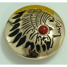 Кончо пуговица индиан золотистый красный