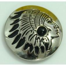Кончо пуговица индиан глянец черный
