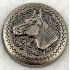 Кончо Horse head (цвет никель) 25мм