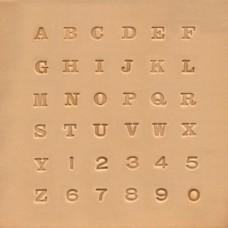 "Набор штампов для кожи ""Английский алфавит"""