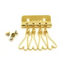 Карабины для ключницы №7 цвет золото