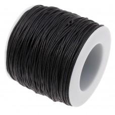 Нить вощеная для кожи круглая 0.7мм черная