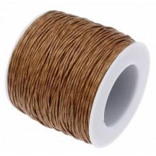 Нить седельная вощеная leathertools для кожи круглая 0.7мм коричневая