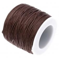 Нить седельная вощеная leathertools для кожи круглая 0.7мм темно-коричневая