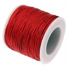 Нить седельная вощеная leathertools для кожи круглая 0.7мм красная