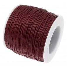 Нить седельная вощеная leathertools для кожи круглая 0.7мм красно-коричневая