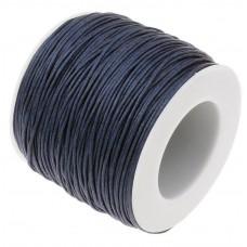 Нить седельная вощеная leathertools для кожи круглая 0.7мм темно-синяя