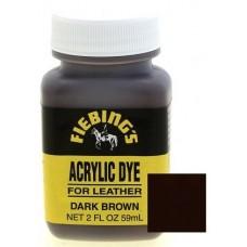 Краска для кожи Fiebing's Acryl Dye, темно-коричневый, 59мл
