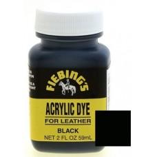 Краска для кожи Fiebing's Acryl Dye, черный, 59мл